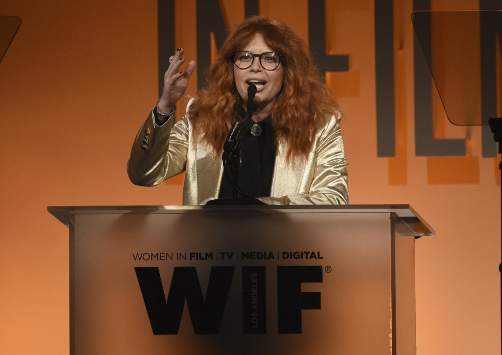 Natasha Lyonne presents the entrepreneur in entertainment award at the Women in Film Annual Gala on Wednesday, June 12, 2019, at the Beverly Hilton Ho