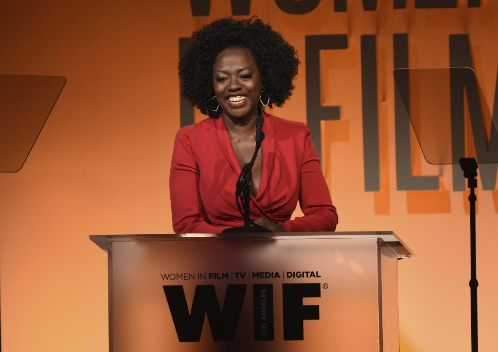 Viola Davis presents the crystal award for advocacy in entertainment at the Women in Film Annual Gala on Wednesday, June 12, 2019, at the Beverly Hilt