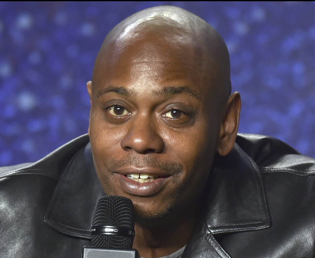 FILE - In this Sept. 9, 2018 file photo, Dave Chappelle speaks at the press conference at the Toronto International Film Festival at the TIFF Bell Lig...