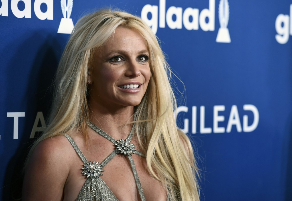 FILE - This April 12, 2018, file photo shows Britney Spears at the 29th annual GLAAD Media Awards in Beverly Hills, Calif. A Los Angeles judge is set