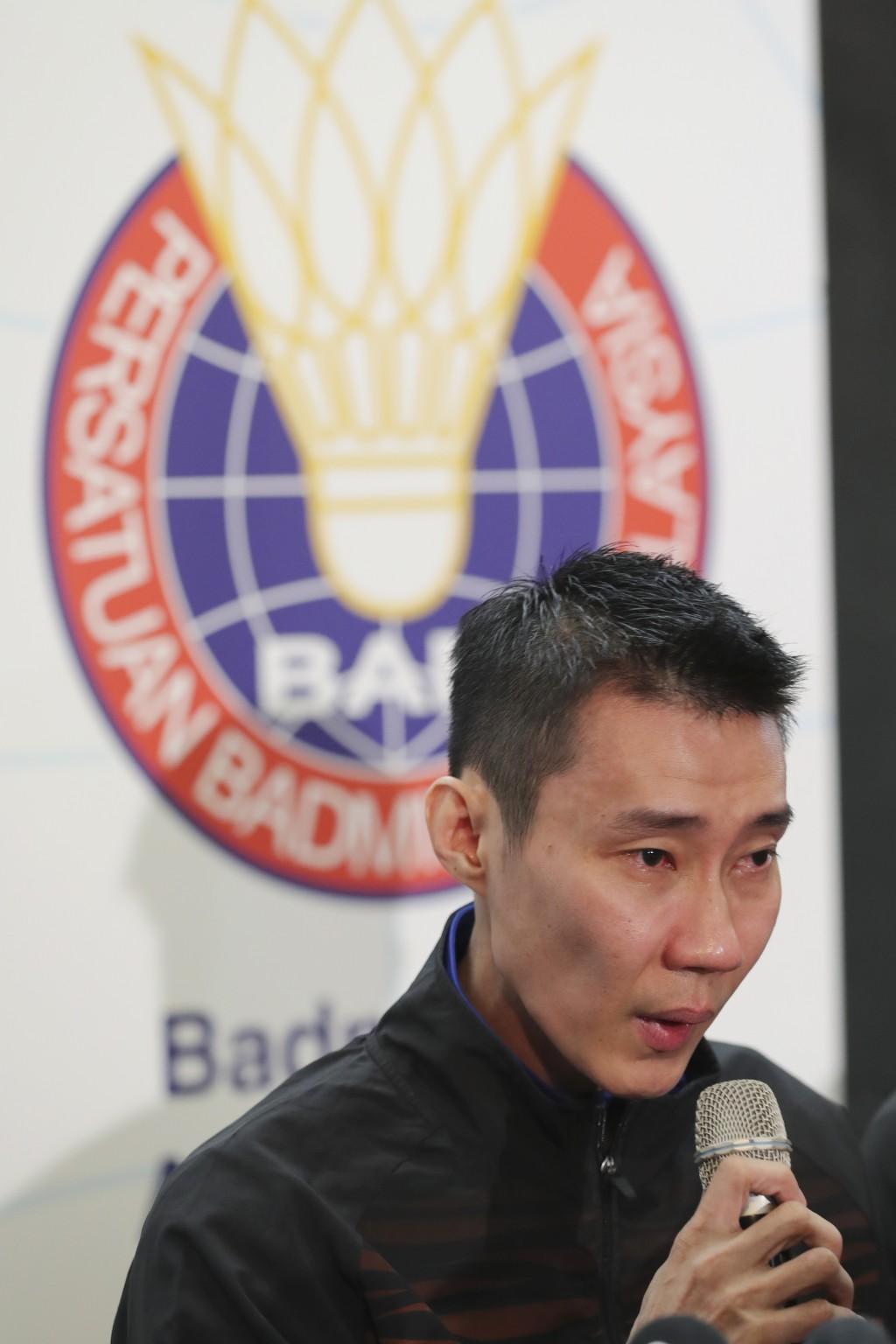 Malaysian badminton player Lee Chong Wei speaks du...