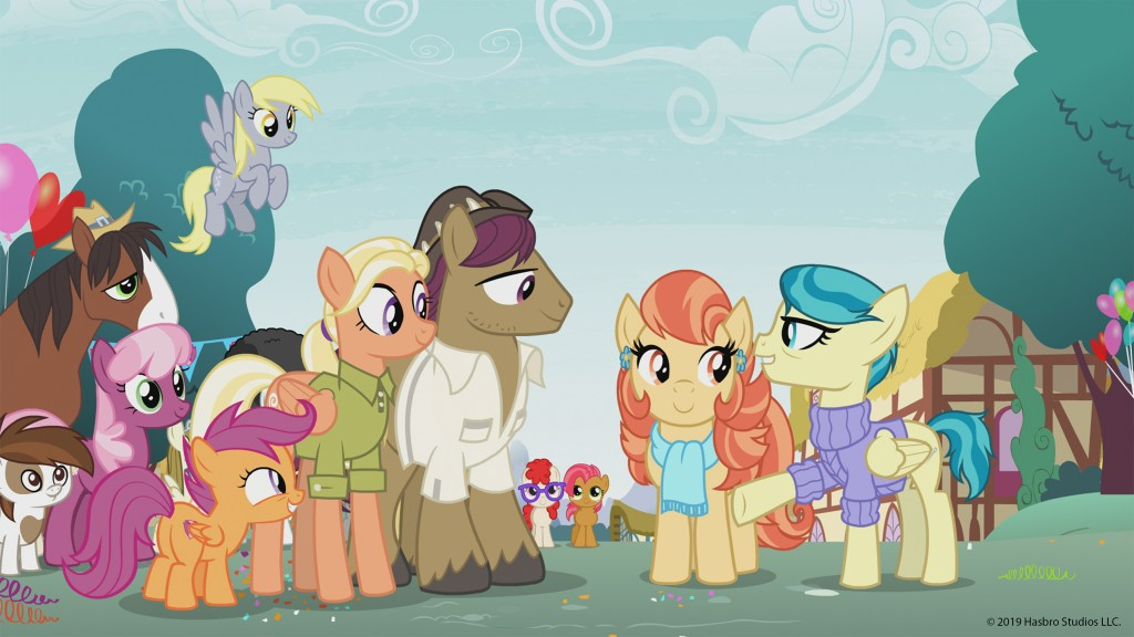 """This photo provided by Hasbro Studios LLC/Discovery Family shows a scene from the Discovery Family Channel cartoon series """" My Little Pony: Friendship"""