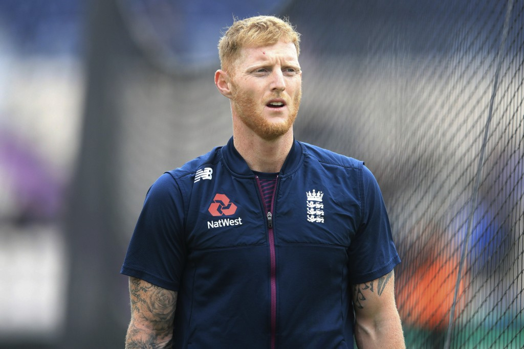 England's Ben Stokes ahead of the match during the...