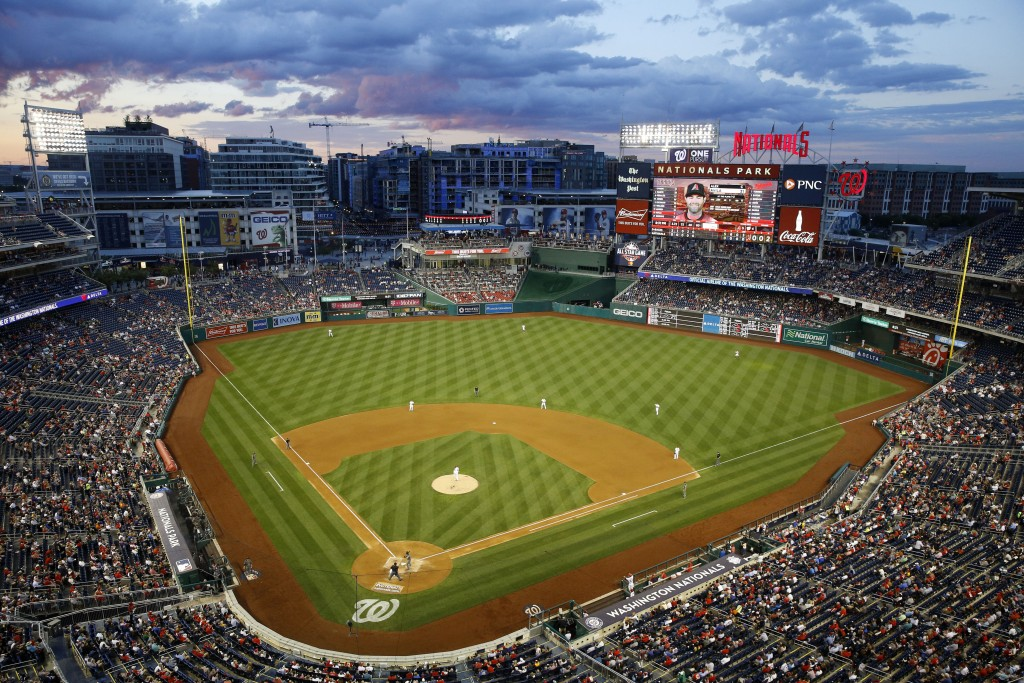 The Arizona Diamondbacks and the Washington Nationals play in the sixth inning of a baseball game Thursday, June 13, 2019, in Washington. (AP Photo/Pa