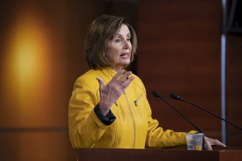 Speaker of the House Nancy Pelosi, D-Calif., reflects on President Donald Trump's statement that he would accept assistance from a foreign power, sayi