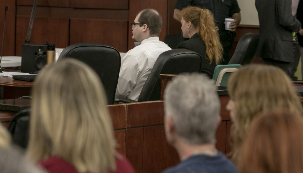 Timothy Jones Jr. sits in court for closing arguments during the sentencing phase of his trial in Lexington, S.C. on Thursday, June 13, 2019.  Jones,