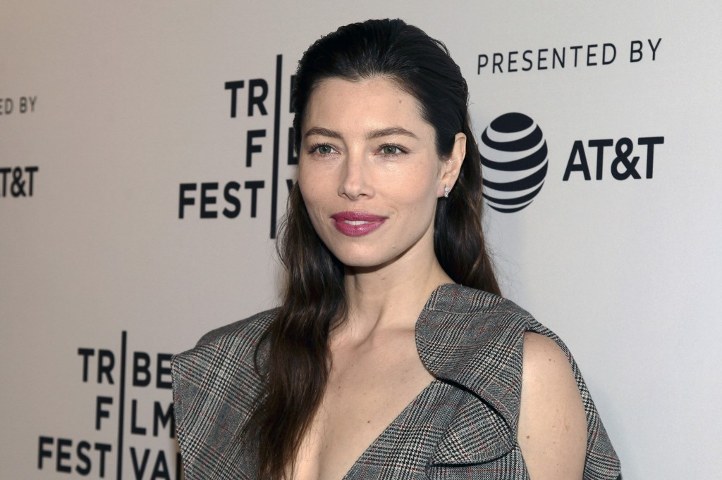 "FILE - In this April 25, 2017 file photo, Jessica Biel attends the screening of ""The Sinner,"" during the 2017 Tribeca Film Festival, at SVA Theatre in"