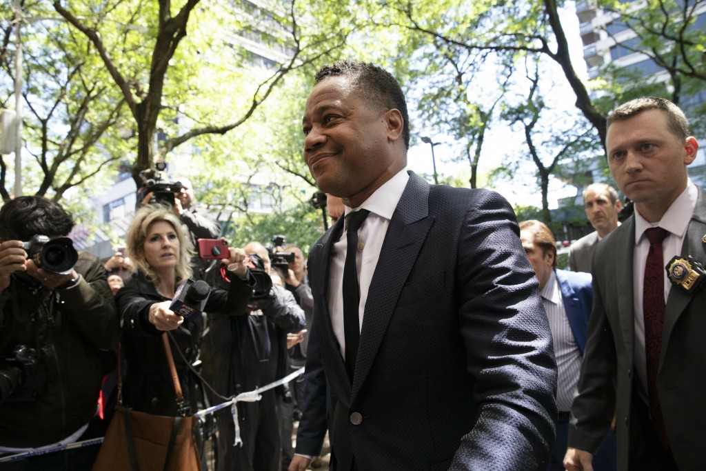 Actor Cuba Gooding Jr. arrives at the New York Police Department's Special Victim's Unit, Thursday, June 13, 2019 to face allegations he groped a woma