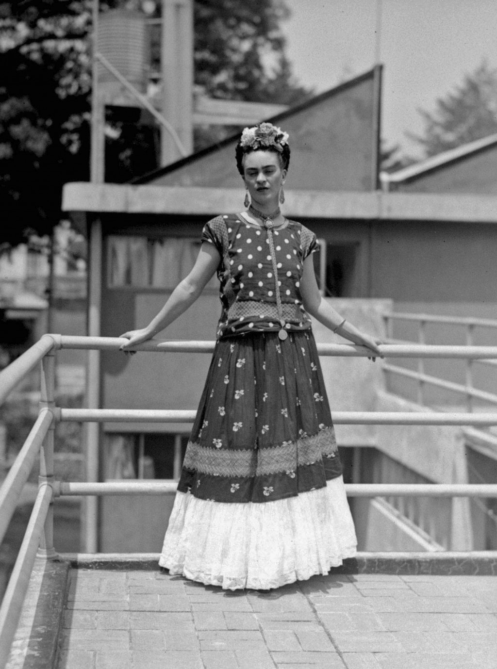 FILE - In this April 14, 1939 file photo, painter and surrealist Frida Kahlo, who was the wife of noted Mexican muralist Diego Rivera, poses at her ho