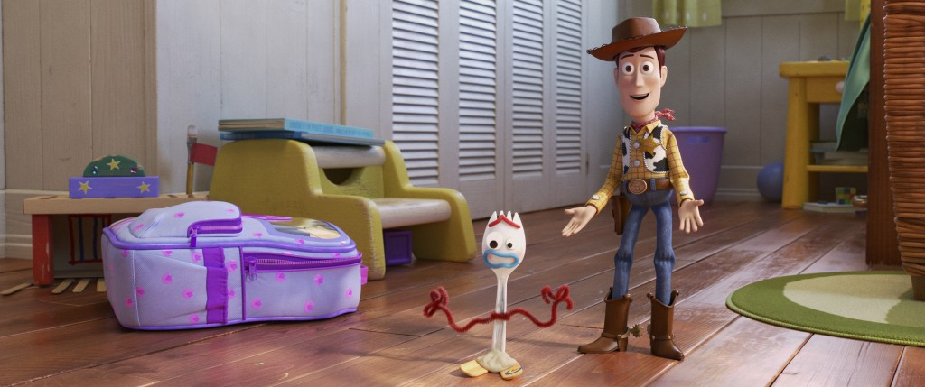 """This undated image provided by Disney/Pixar shows a scene from the movie """"Toy Story 4.""""  (Disney/Pixar via AP)"""