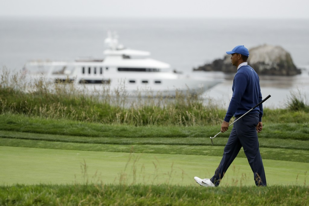 Tiger Woods walks on the third green during the second round of the U.S. Open golf tournament Friday, June 14, 2019, in Pebble Beach, Calif. (AP Photo