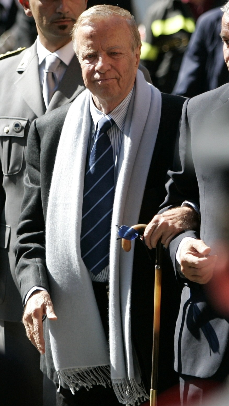 FILE - In this Saturday, Sept. 8, 2007 file photo, Italian movie director Franco Zeffirelli arrives at the funeral service of late Italian tenor Lucia...