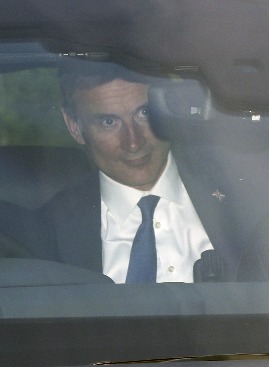 Conservative party leadership contender Jeremy Hunt arrives at the television studios ahead of a scheduled live television debate for the Conservative
