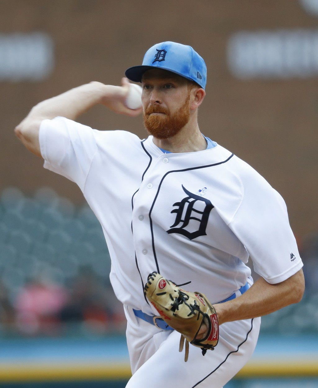 Detroit Tigers pitcher Spencer Turnbull throws against Cleveland Indians in the first inning of a baseball game in Detroit, Sunday, June 16, 2019. (AP...