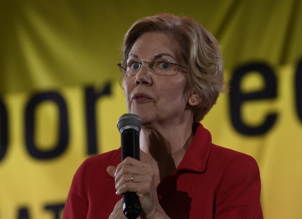 Democratic presidential candidate Sen. Elizabeth Warren, D-Mass., speaks at the Poor People's Moral Action Congress presidential forum in Washington, ...