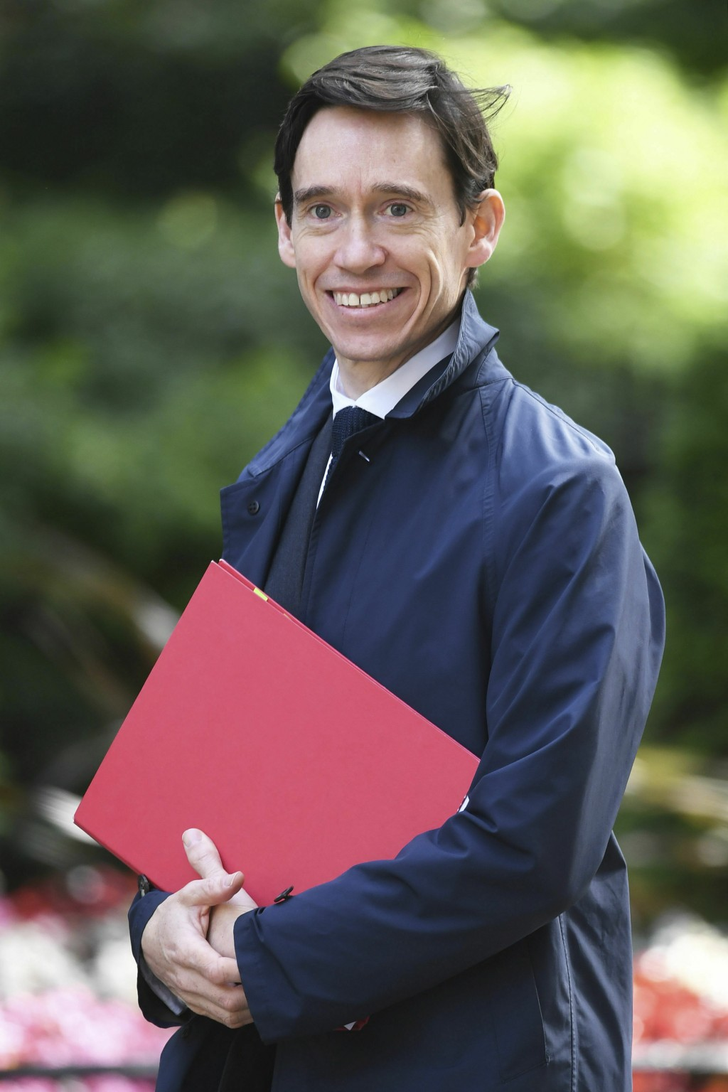 Britain's International Development Secretary Rory Stewart arrives for a cabinet meeting at 10 Downing Street, London, Tuesday June 18, 2019. (Stefan