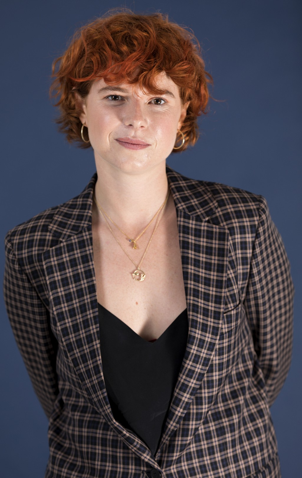 """In this  June 18, 2019 photo, Jessie Buckley poses for a portrait in New York. In """"Wild Rose,"""" Buckley stars as a fiery, working-class Glasgow single ..."""