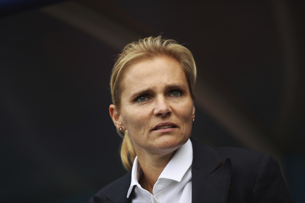 Netherlands coach Sarina Wiegman appears before the Women's World Cup Group E soccer match between the Netherlands and Canada at Stade Auguste-Delaune...
