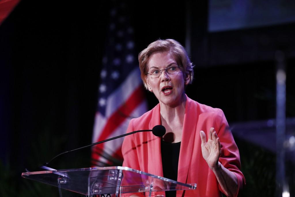 Democratic presidential candidate U.S. Sen. Elizabeth Warren, D-Mass., speaks during a forum on Friday, June 21, 2019, in Miami. (AP Photo/Brynn Ander...