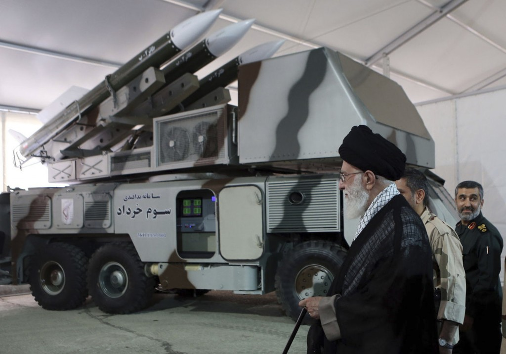 In this photo released on May 11, 2014, by an official website of the office of the Iranian supreme leader, Third of Khordad air defense system is dis...