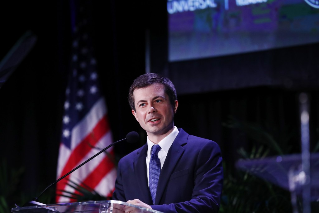 Democratic presidential candidate and South Bend, Ind., Mayor, Pete Buttigieg speaks during a forum on Friday, June 21, 2019, in Miami. (AP Photo/Bryn...
