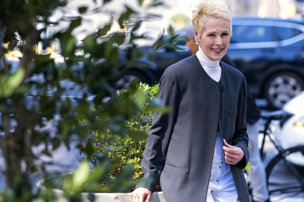 E. Jean Carroll is photographed, Sunday, June 23, 2019, in New York. Carroll, a New York-based advice columnist, claims Donald Trump sexually assaulte...