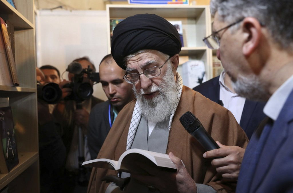 In this picture released on April 29, 2019, by the official website of the office of the Iranian supreme leader, Supreme Leader Ayatollah Ali Khamenei...
