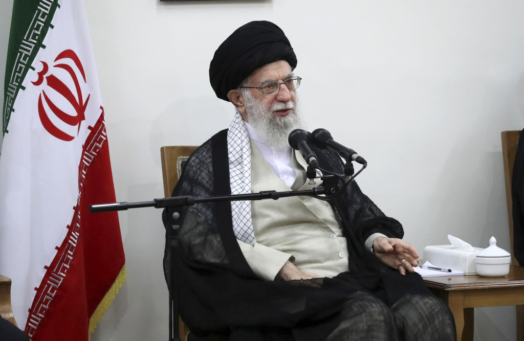 In this picture released on Wednesday, June 19, 2019, by the official website of the office of the Iranian supreme leader, Supreme Leader Ayatollah Al...