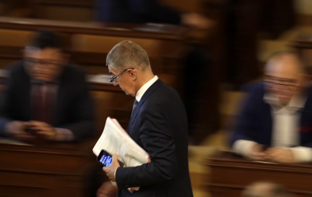 Czech Republic's Prime Minister Andrej Babis arrives for a parliament session in Prague, Czech Republic, Wednesday, June 26, 2019. The Czech coalition...