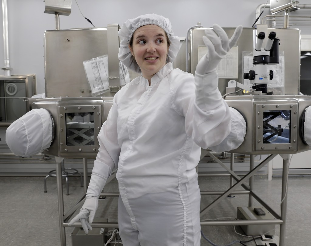 Lacey Costello, Apollo sample curation processor, talks about her job examining lunar samples inside the lunar lab at the NASA Johnson Space Center Mo...