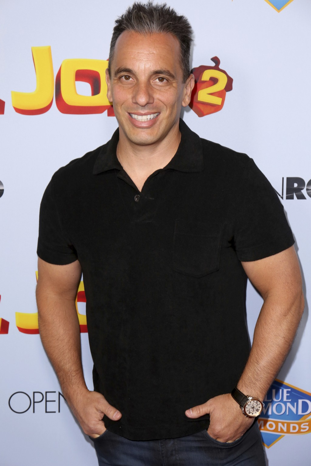 "FILE - In this Aug. 5, 2017 file photo Sebastian Maniscalco arrives at the LA Premiere of ""The Nut Job 2: Nutty by Nature"" in Los Angeles. The comedia..."