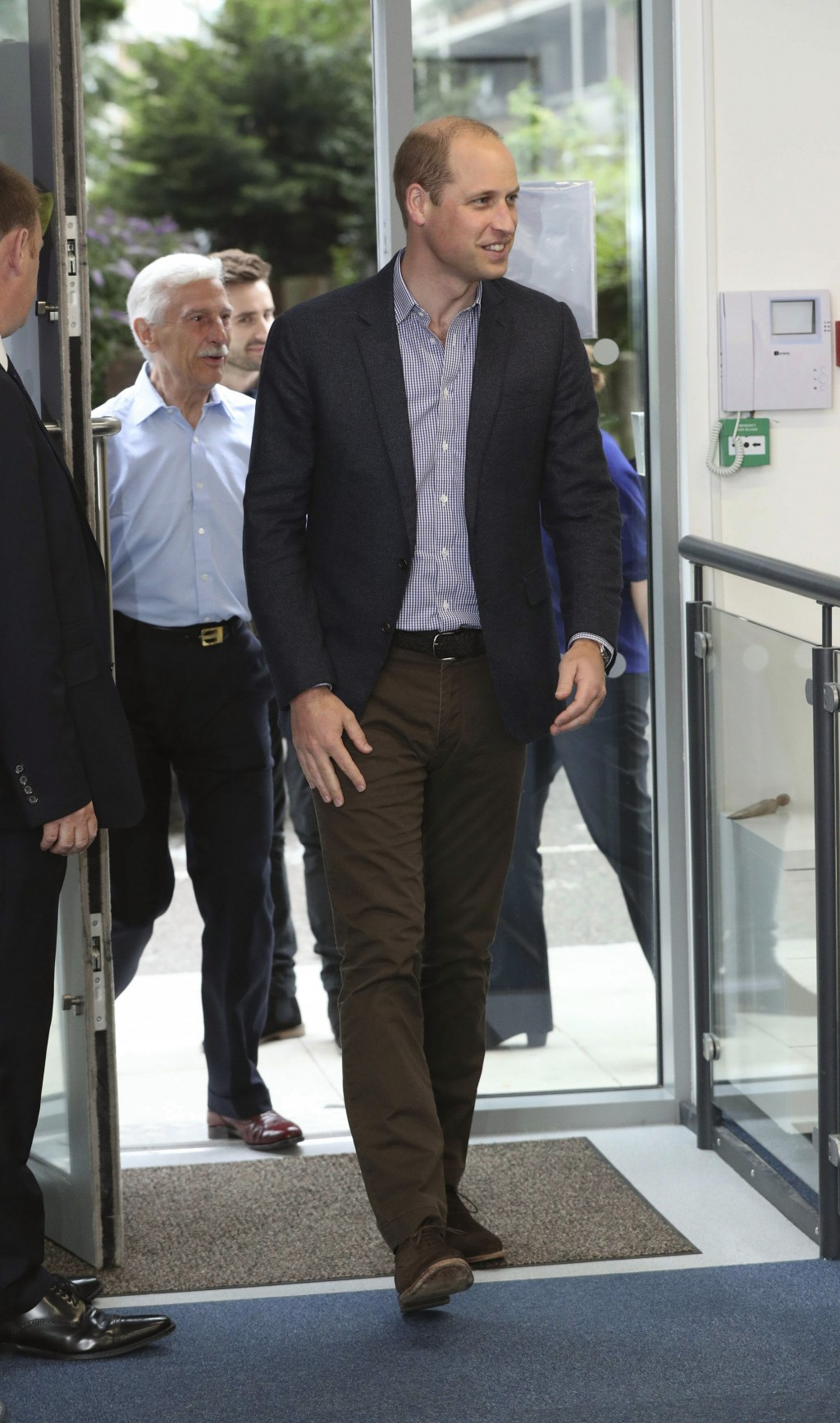 Britain's Prince William, the Duke of Cambridge arrives for a visit to the Albert Kennedy Trust to learn about the issue of LGBTQ youth homelessness a...