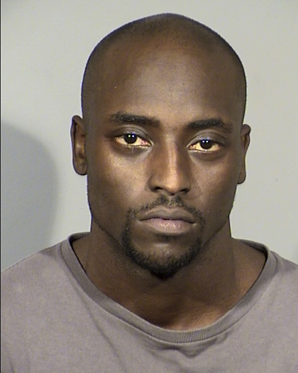 FILE - This undated Clark County Detention Center photo released by the Las Vegas Metropolitan Police Department shows Cierre Wood. Former pro footbal...