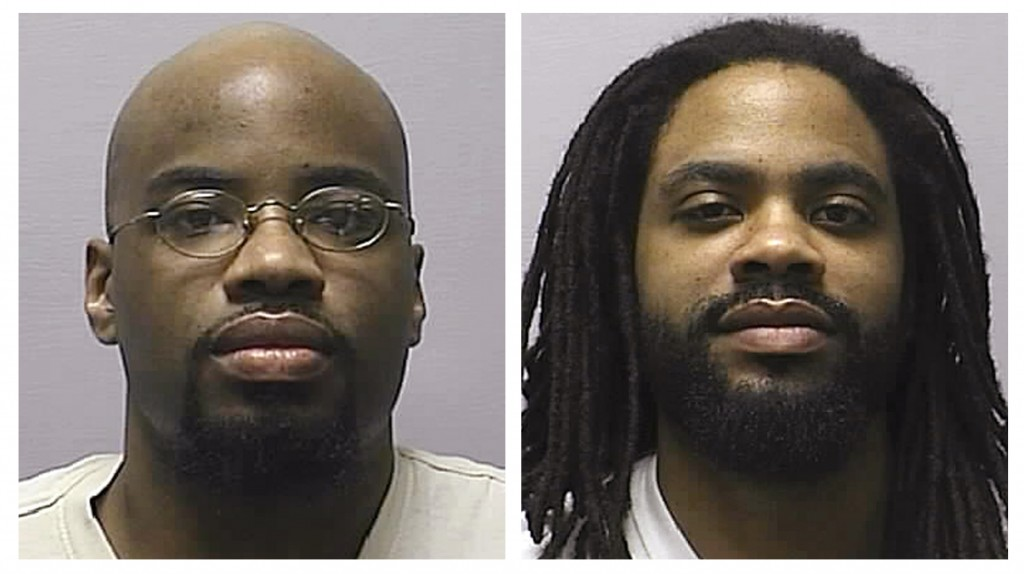 FILE - This combination of 2013 file photos provided by the Kansas Department of Corrections shows Reginald Carr, left, and Jonathan Carr. A recent Ka...