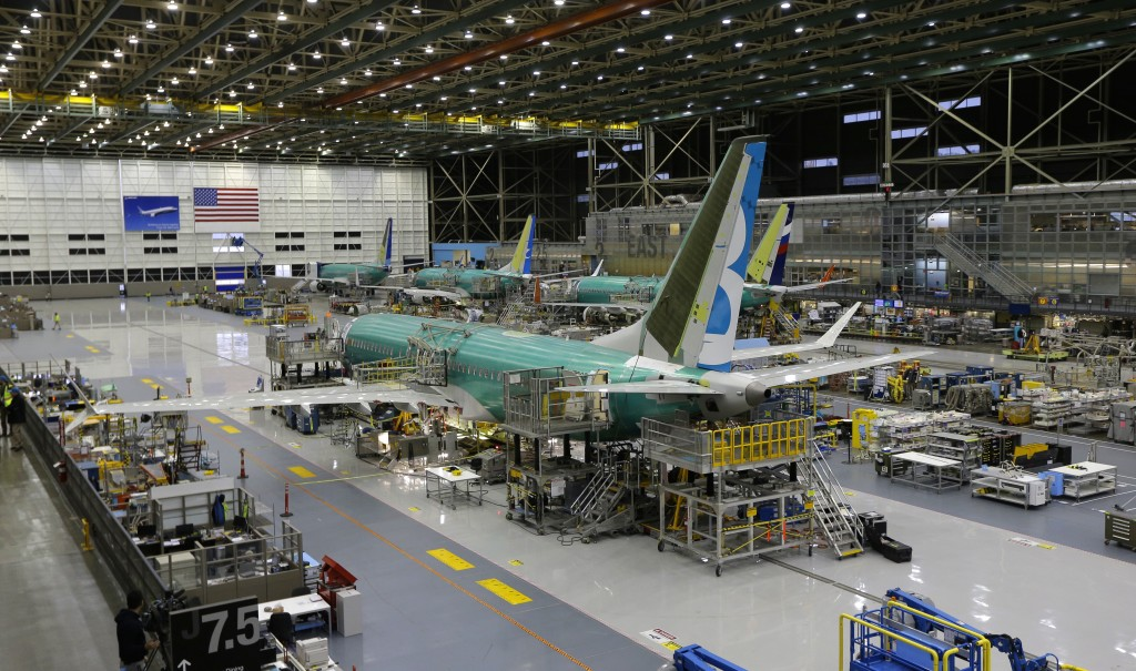 FILE - This Dec. 7, 2015, file photo shows the second Boeing 737 MAX airplane being built on the assembly line in Renton, Wash. A new computer problem...