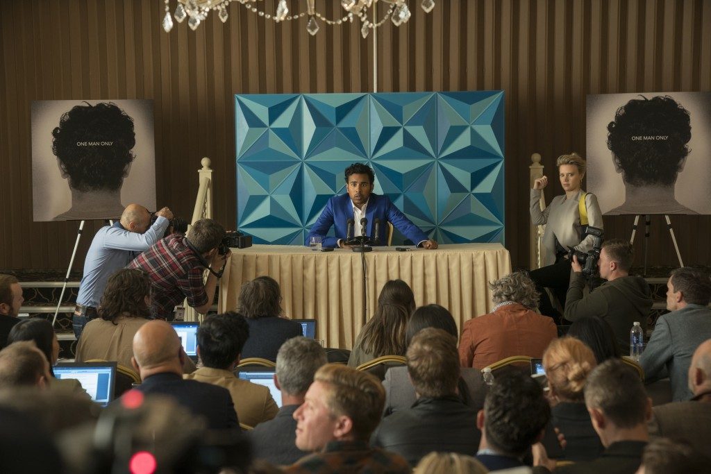 "This image released by Universal Pictures shows Himesh Patel and Kate McKinnon, right, in a scene from ""Yesterday.""  (Jonathan Prime/Universal Picture..."