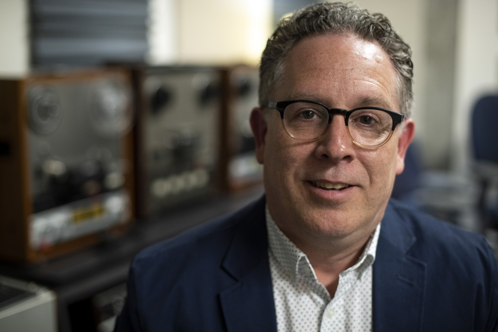 In this May 30, 2019 photo, Toby Seay, project director of the Drexel University's audio archives poses for a portrait in San Diego. A college music d...