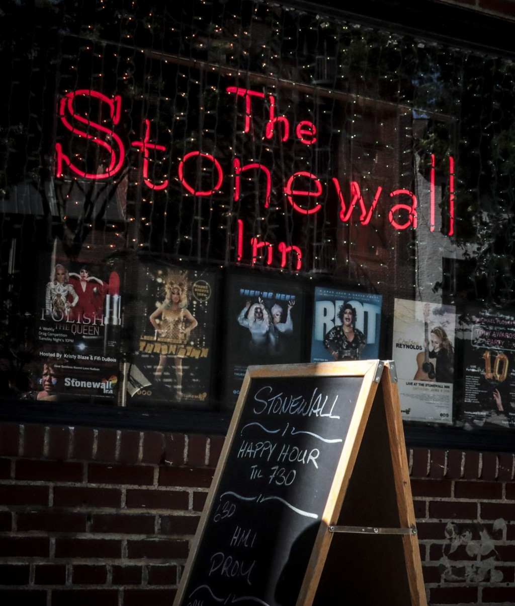 In this Monday, June 3, 2019 photo, the current Stonewall Inn is open for afternoon business in New York. Fifty years ago, the Stonewall Inn was an un...