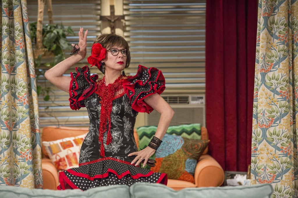 """This image released by Netflix shows Rita Moreno in a scene from """"One Day At A Time."""" The series, a remake of the 1970's-80's Norman Lear TV series, c..."""
