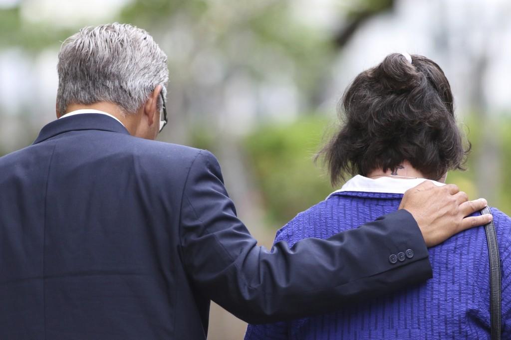 FILE - In this June 25, 2019 file photo, former Honolulu police chief Louis Kealoha, left, and his wife former deputy prosecutor Katherine Kealoha, le...