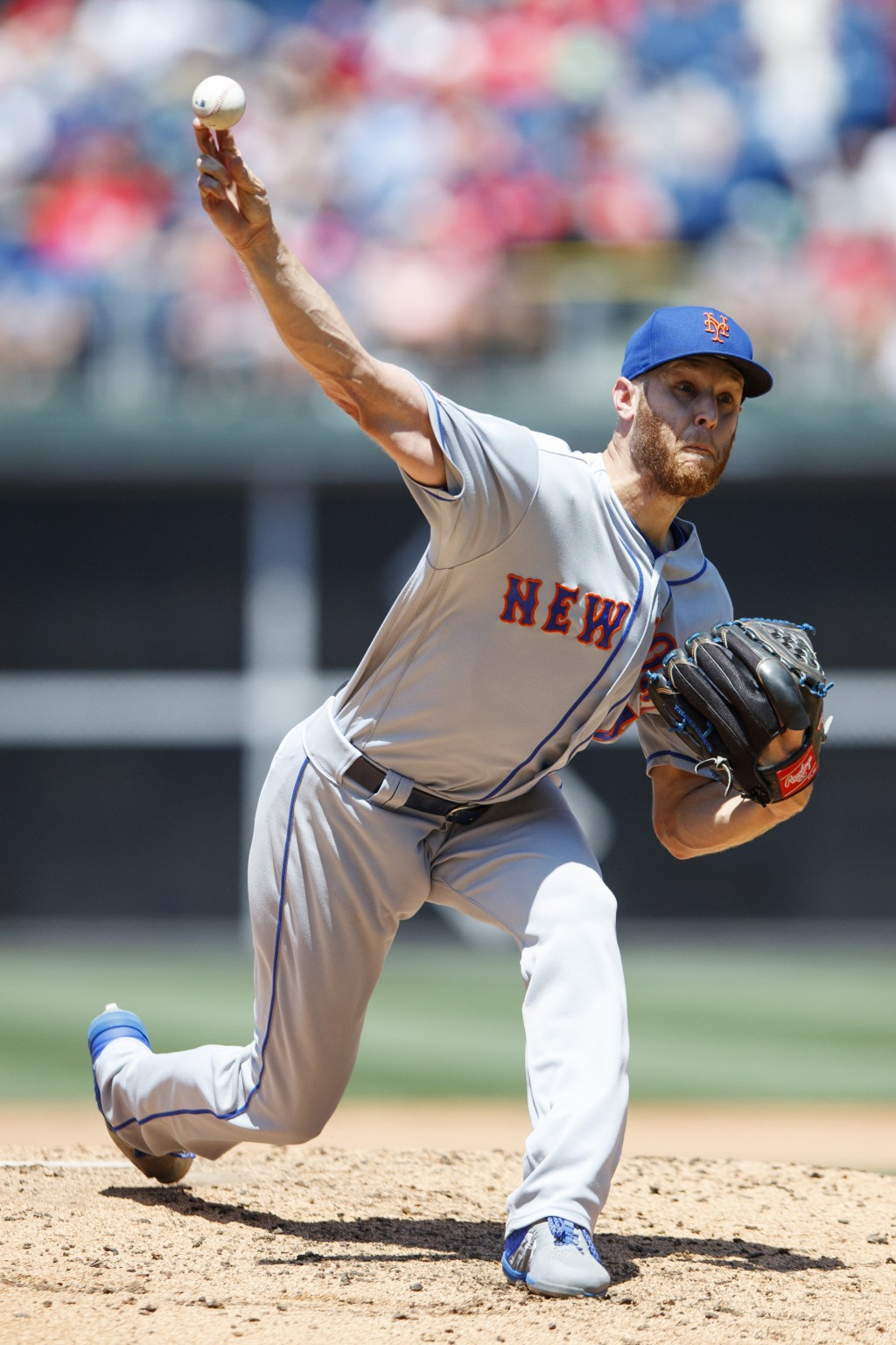New York Mets' Zack Wheeler pitches during the third inning of a baseball game against the Philadelphia Phillies, Thursday, June 27, 2019, in Philadel...