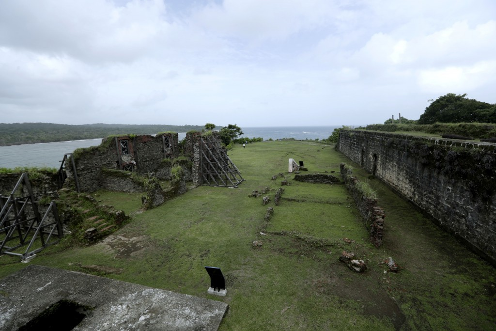 Fort San Lorenzo stands on a promontory overlooking the mouth of the Chagres River, on Panama's Caribbean coast, Friday, June 28, 2019. The fort was b...