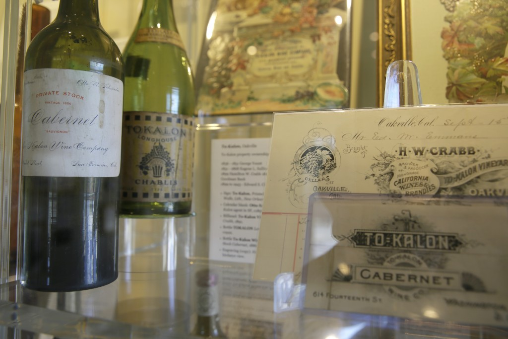 In this photo taken Wednesday, June 5, 2019, is a display on the historic To Kalon Vineyard at 1881 Napa in Oakville, Calif. 1881 Napa, a wine history...