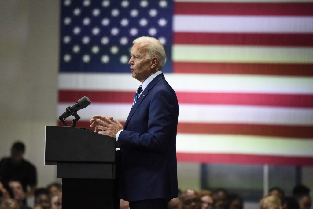 Democratic presidential candidate and former vice president Joe Biden speaks at a campaign event in Sumter, S.C, on Saturday, July 6, 2019. (AP Photo/