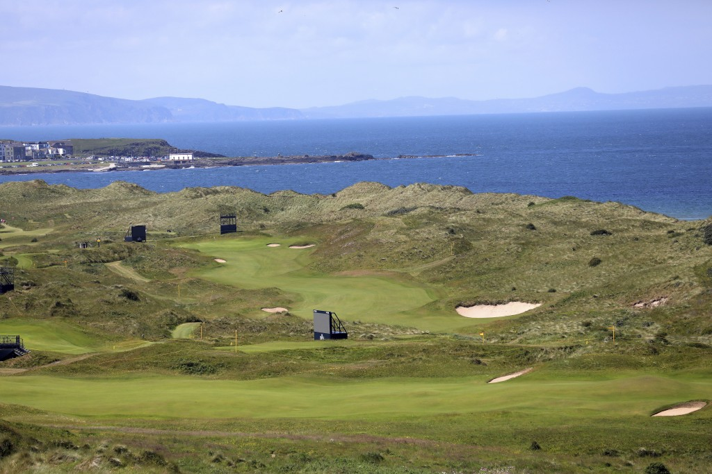 The Dunluce Links course at Royal Portrush Golf Club, Northern Ireland, Saturday, July 6,  2019. The Open Golf Championship will be played at Royal Po...
