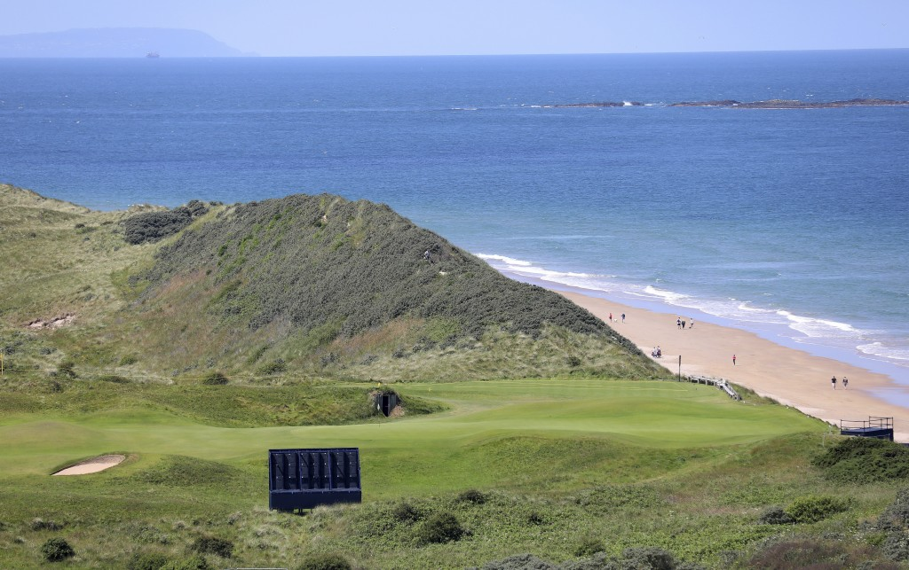The 5th hole on the Dunluce Links course at Royal Portrush Golf Club, Northern Ireland, Saturday, July 6 2019. The Open Golf Championship will be play...