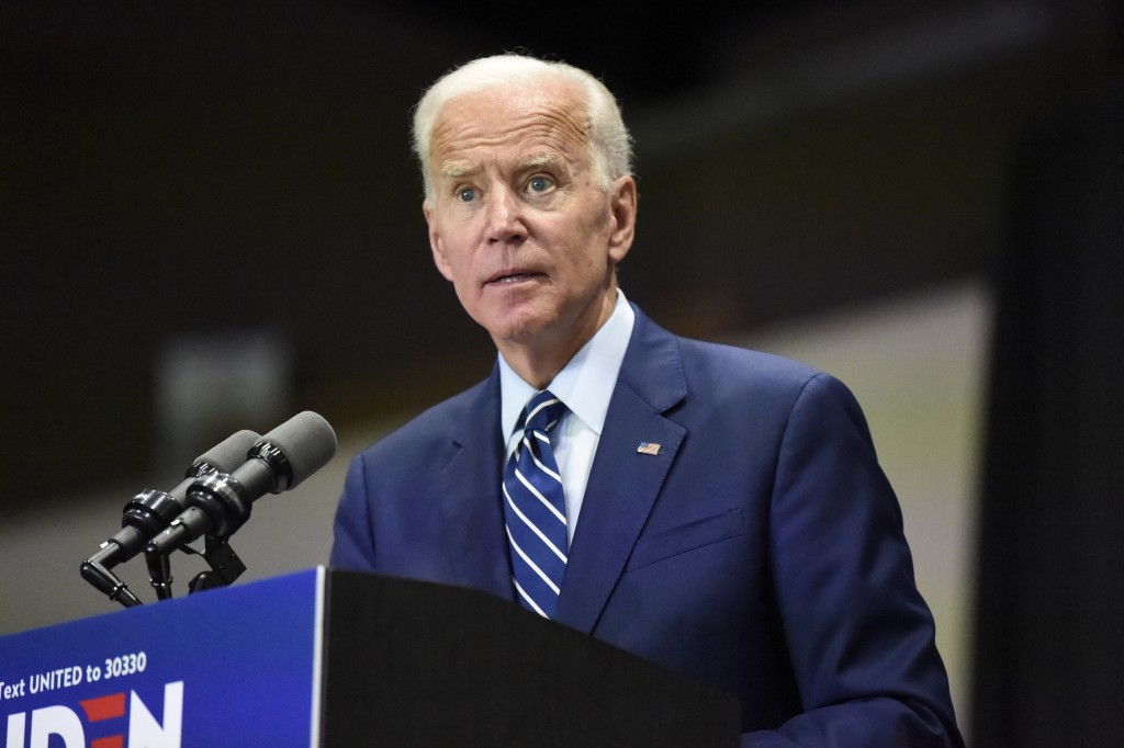 Democratic presidential candidate and former vice president Joe Biden speaks at a campaign event in Sumter, S.C, on Saturday, July 6, 2019. (AP Photo/...