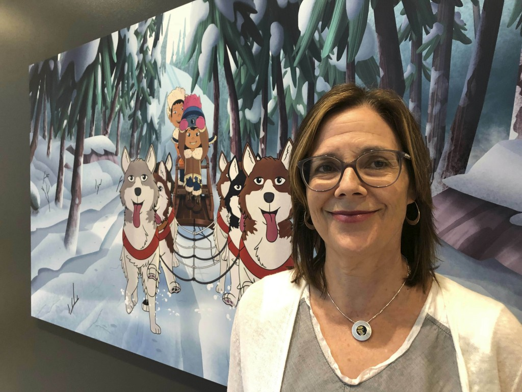 "This June 27, 2019 photo shows Dorothea Gillim, executive producer and co-creator of ""Molly of Denali,"" at the Anchorage Museum in Anchorage, Alaska."