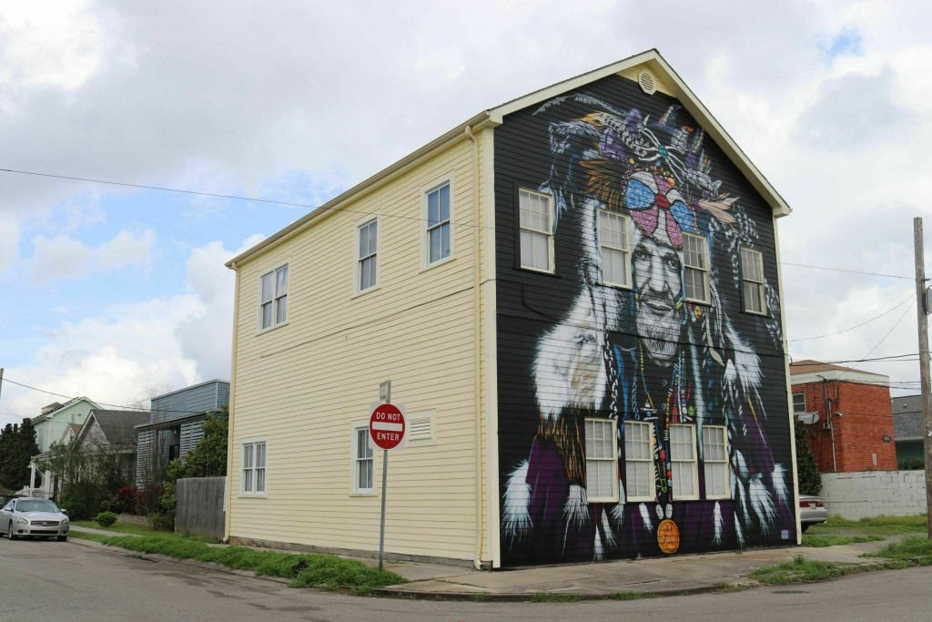 This mural of musician Dr. John, seen in a Feb. 22...