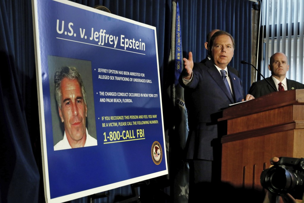 United States Attorney for the Southern District of New York Geoffrey Berman speaks during a news conference, in New York, Monday, July 8, 2019. Feder